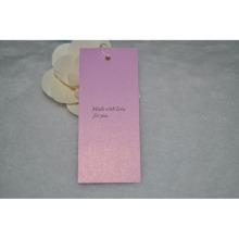 Женская одежда Свинг-тег для белой бумаги Hangtag