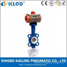 Ningbo actuador Manufactory EPDM PTFE Sellado Válvula de mariposa neumática