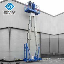 Elevador de tijera hidráulico de aluminio 500kg