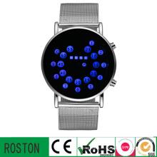 Montre-bracelet en acier de ceinture avec RoHS CE FCC