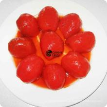 Tomate descascado inteiro enlatado de boa qualidade