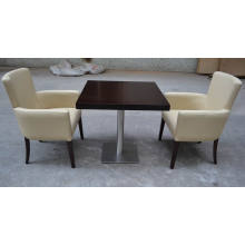 2014 beige leather chair and table for restaurant XYNEW13