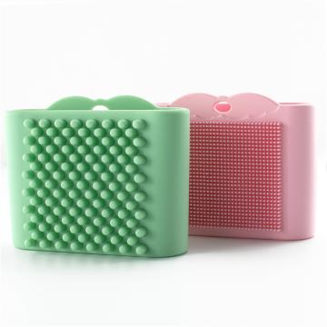 Уход за мягкой кожей Силиконовая щетка для лица Экологичная силиконовая щетка для мытья рук