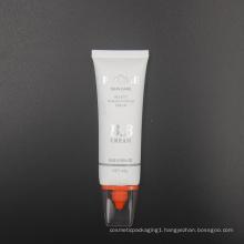 45g matte coating oval skin care bb cream tube packaging