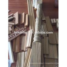 moulures en bois recon pour la décoration, la construction, la ligne de plafond, moulures en bois plates