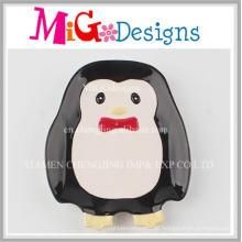 Placa de Petisco Cerâmica Bonito Pinguim