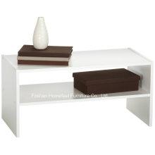 2 Camadas de gabinete de armazenamento horizontal organizável de prateleiras