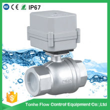 Alta qualidade 1-1 / 2 '' elétrica automática válvula de esfera de aço inoxidável (T40-S2-c)