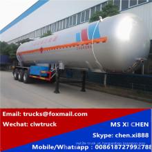 Semireboque para propano 60, 000L semi reboque reboque LPG 25MT