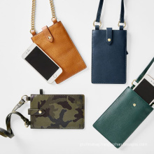 Mini Genuine leather cell phone bags mobile phone sling bag with strap