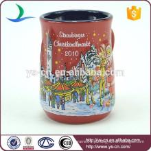 YScc0006-01 Anjo E Boneco De Neve Padrão Barato Canecas De Cerâmica Para O Natal