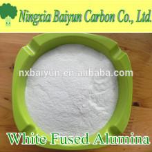 WFA 99.5% Al2O3 polvo de alúmina fundida blanco abrasivo para pulido de acero