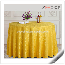 Nuevos Jacquard Design Linens De La Boda De La Boda Redonda Usado Table Cloth