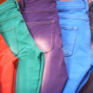 100% coton couleur unie fil dued couleur denim