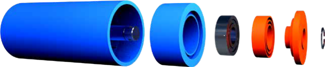UHMWPE ROLLER STRUCTURE