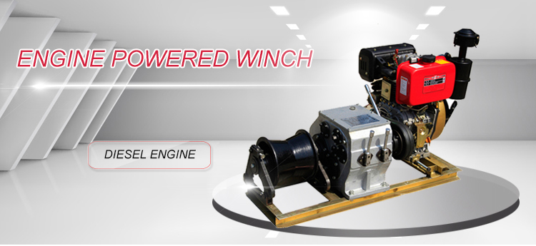 engine power winch