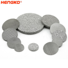 Sintered Filter Sintered micron stainless steel porous metal filter disc factory