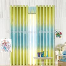 Cortinas e persianas de escritório de duas cores com padrões
