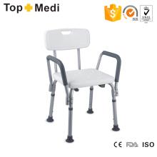 Topmedi Bathroom Safety Equipment Height-Adjustable Aluminum Bath Chair