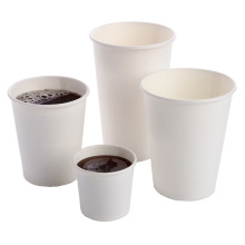 Ventes chaudes personnalisées d'encre à base d'eau en plastique gratuit en gros jetable imprimé tasse de papier Kraft café pour boisson chaude