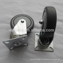 Roulette pivotante en plastique gris 100mm pour table de comptoir