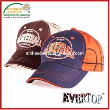 100% coton en sergé tissu bonnet de baseball avec logo de broderie, mignon bonnet de baseball pour enfants