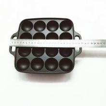 Square Cast Iron Poffertje Pan/Takoyaki Pan