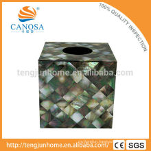 Natural Craft Black Mother of Pearl Tissue Box
