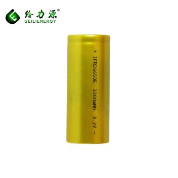 Rechargeable 3300mah 3.2V battery lithium-ion 26650 li-ion batteries li-ion