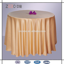 100% Polyester Solid Color Sateen Fabric Banquet or Wedding Used Hotel Table Cloth
