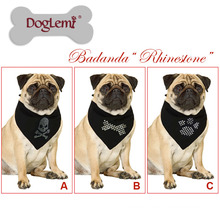 Doglemi Hot Selling Pet Scarf Accessories New Custom Paw Bone Skull Print Logo Dog Bandana