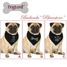 Doglemi Venda Quente Pet Cachecol Acessórios New Custom Paw Crânio Do Osso de Impressão Cão Bandana Logotipo
