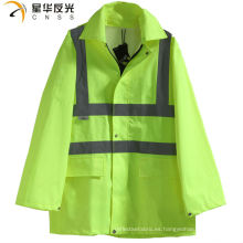 CNSS Chaqueta de lluvia de color amarillo o personalizado de alta visibilidad y Pantalones