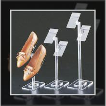 Прозрачная акриловая стойка для обуви