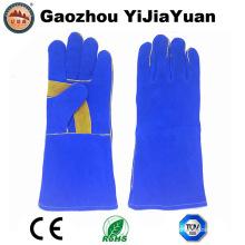 Segurança luvas de trabalho de couro para soldagem com Ce En407