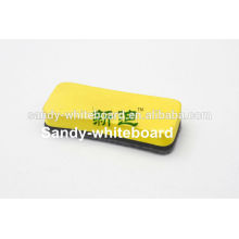 yellow white board eraser