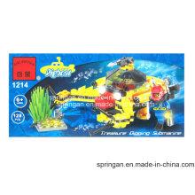 Aqua Series Designer Bathyscaphe 128PCS Blocks Spielzeug