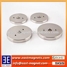 Permanent Neodym Magnet für Automobile / High-Technik Herstellung Ring Magnet mit drei Löcher