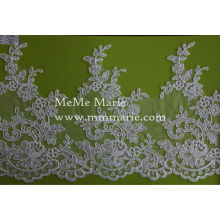 Trim Lace Fabric for Bridal Wedding Dress Embroidery Lace Curtain Lace CTC081