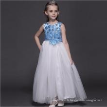 robes de conte de fées pur blanc bleu clair robe pour enfants sol longueur USA net doux party vêtements d'anniversaire robes