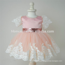 2017 new fashion kids clothes baby dress girls birthday dress sequins lace dress for baby girls