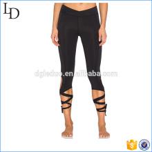 Wrap tie leg openings activewear sports fitness athletic legging