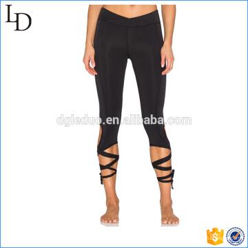 Wrap tie aberturas para las piernas Activewear deportes fitness atlético legging