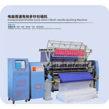 Yuxing Computerized Shuttle Multi-Agulha Quilting Machine para edredon, vestuário, colchas