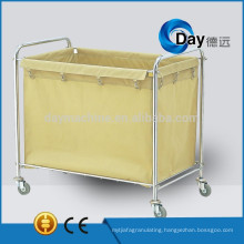 HM-45 stainless steel frame collapsible laundry cart with Oxford bag