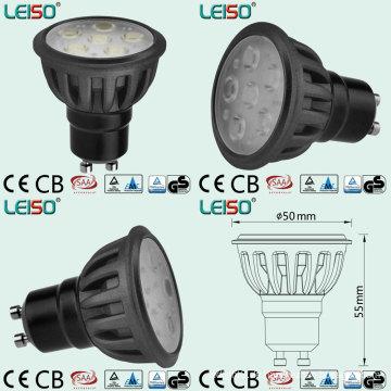 GU10 LED Spotlight mit völlig gleicher Halogen Lichtgröße