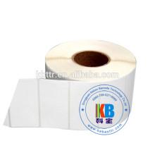 Печать штрих-кода клей пустой стикер рулон белого цвета