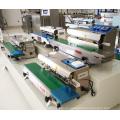 Sellador de transportador automático continuo Horizontal CBS para alimentos Film de Candy Bag sellado con correa ajustable plataforma