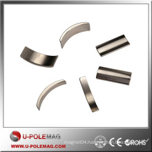 Nickel Coated Small Arc Magnet Strong Permanent NdFeB Magnet 45M