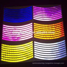 fashion colorful Glow in the dark bike reflective wheel rim sticker